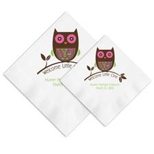 Argyle Owl Ooh La Color Napkins