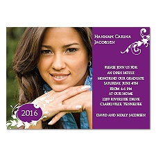 Flourishing Success Photo Graduation Invitation - Grapevine