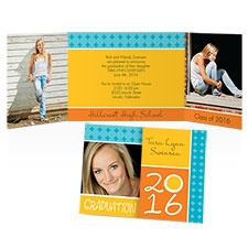 Geometrics Photo Graduation Invitation