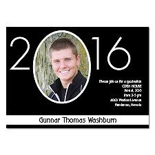 Your Year Photo Graduation Invitation - Black