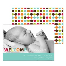Colorful Welcome Photo Baby Announcement