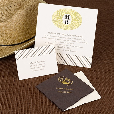 Gold Buckle - Invitation