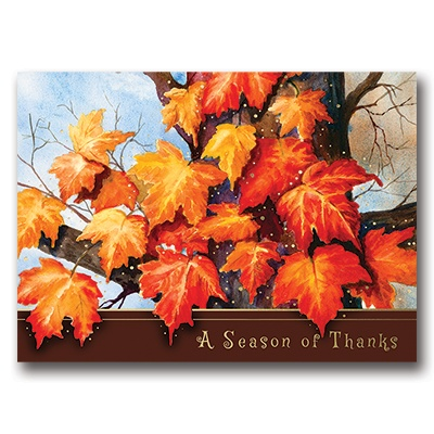 Maple Leaves Card