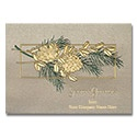 Golden Pinecones Card
