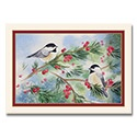 Chickadees and Berries Card