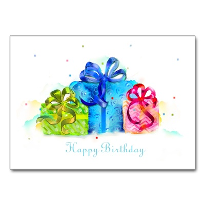 Confetti Birthday Card