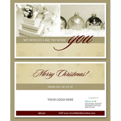 Beautiful Merry Christmas E-Card