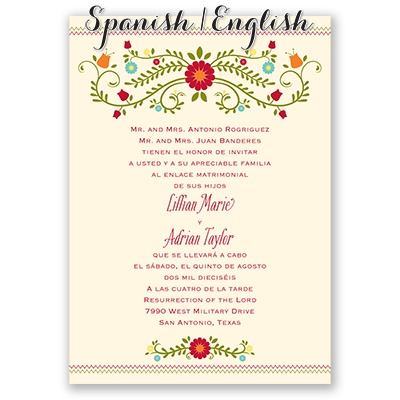 spanish wedding invitations invitaciones de boda invitations by 7606