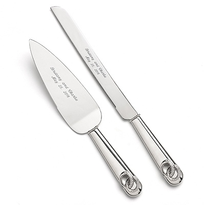 wedding cake knives and servers two rings cake knife and server at invitations by 8685
