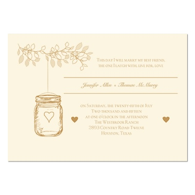 Wedding Invitations Lantern Jar